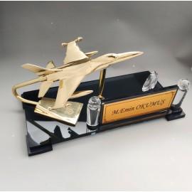 Prinç Uçak Kristal Masa İsimliği
