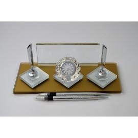 Gold&Beyaz Vip Kristal Masa İsimliği